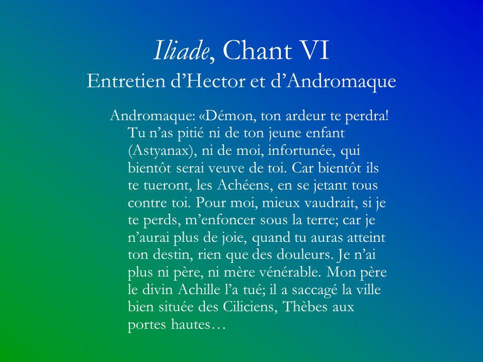 Iliade, Chant VI Entretien d'Hector et d'Andromaque