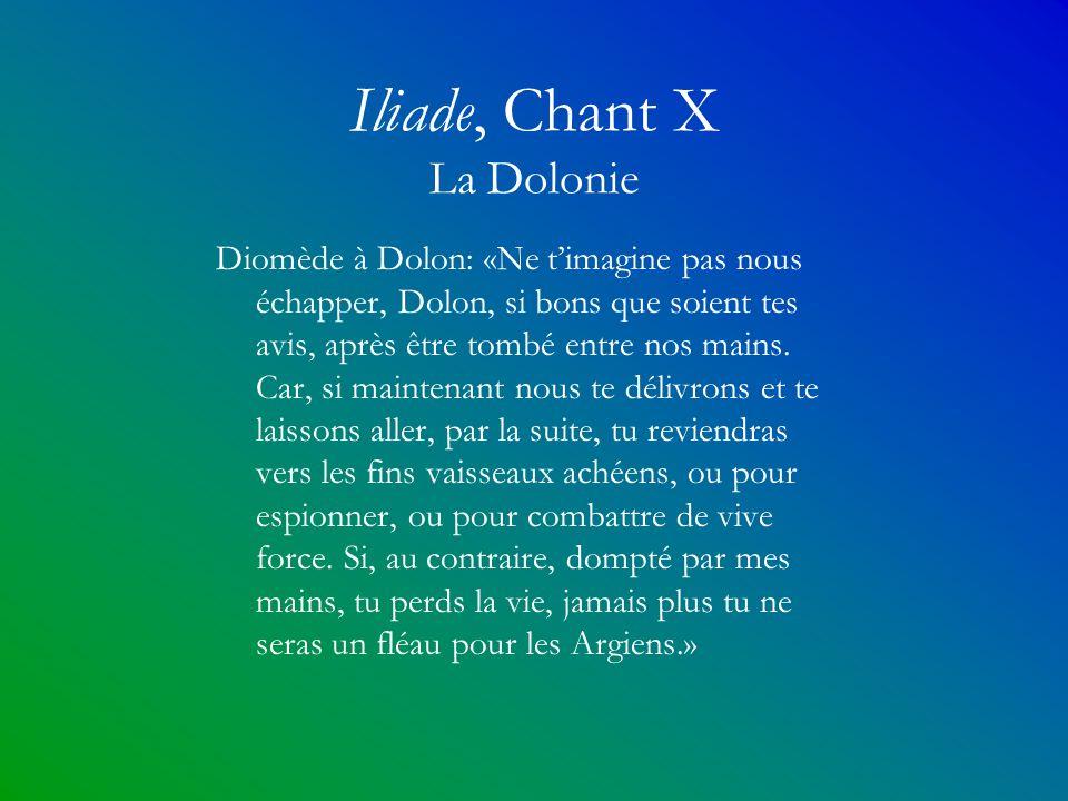 Iliade, Chant X La Dolonie