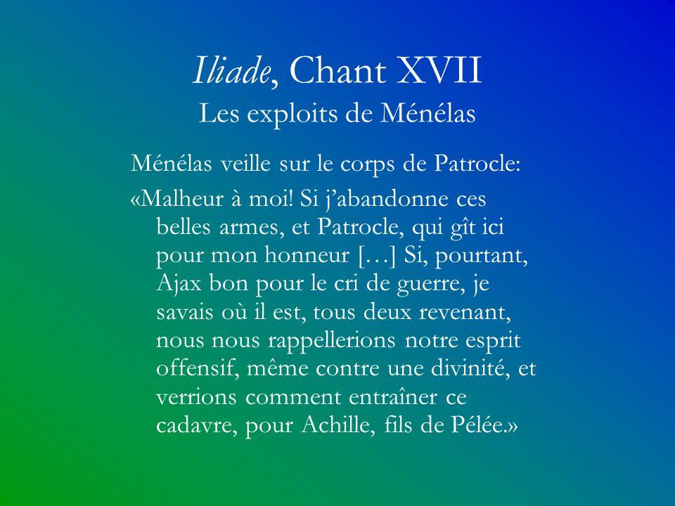Iliade, Chant XVII Les exploits de Ménélas