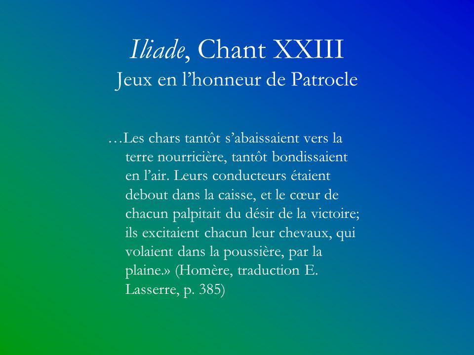 Iliade, Chant XXIII Jeux en l'honneur de Patrocle