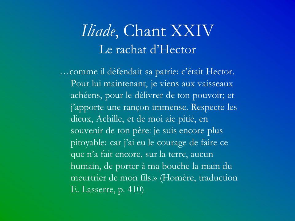Iliade, Chant XXIV Le rachat d'Hector