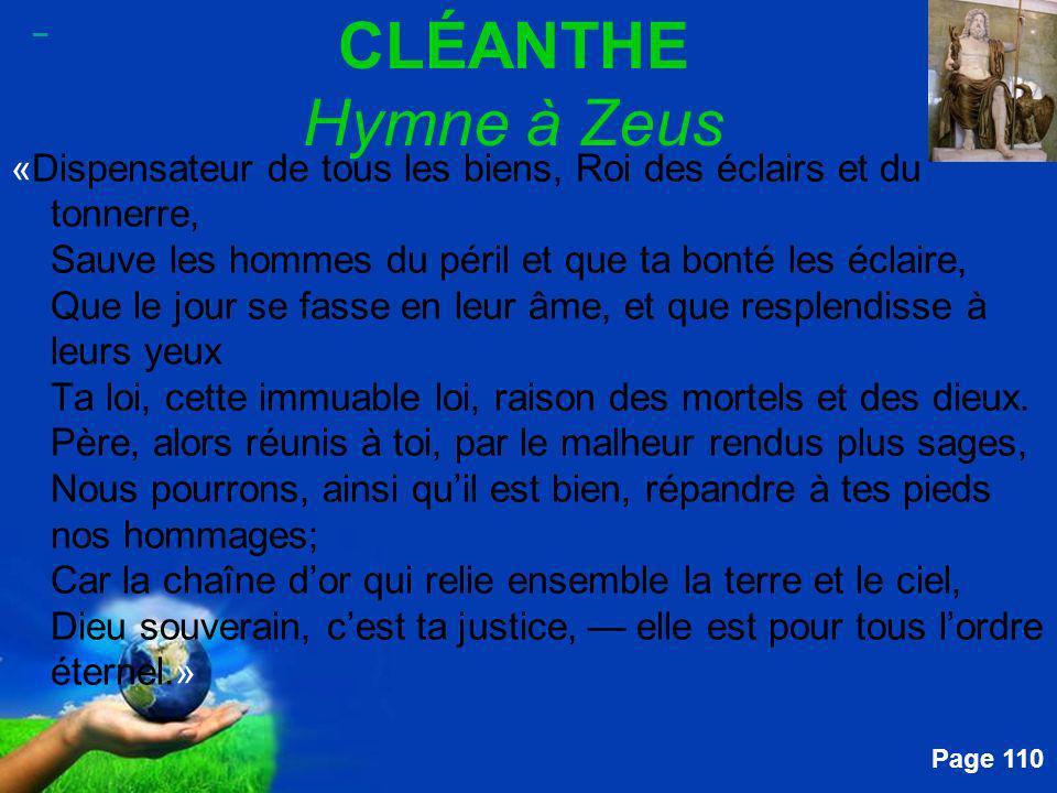 _ CLÉANTHE Hymne à Zeus.