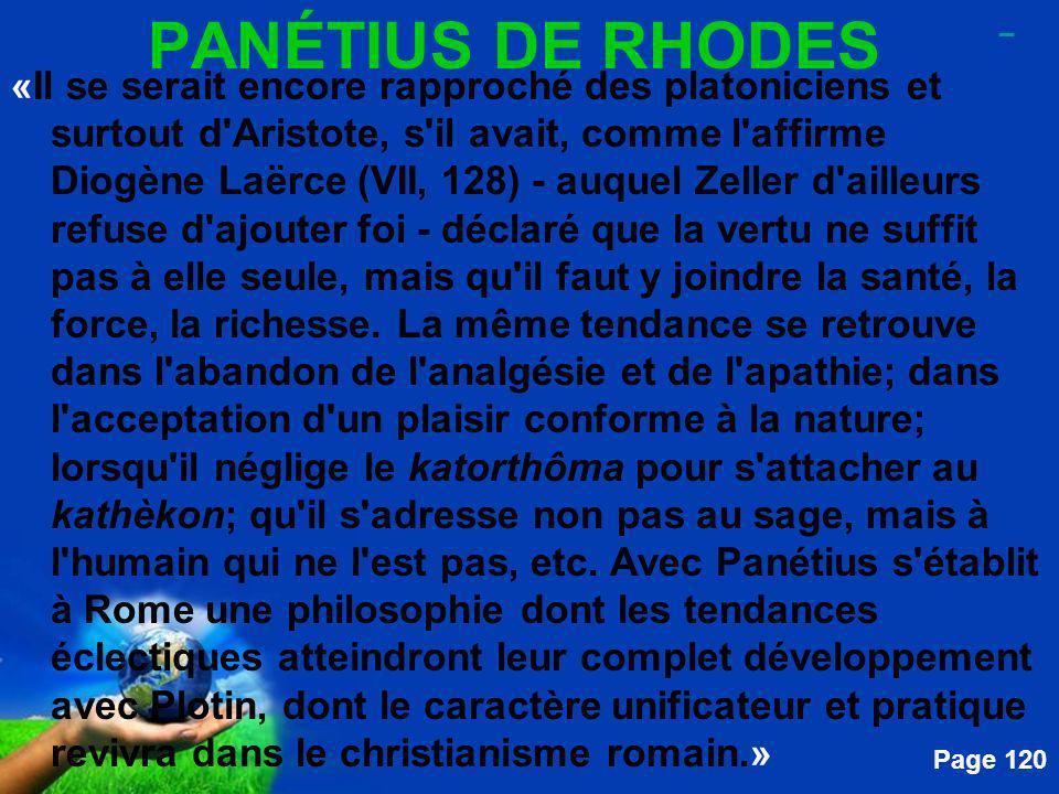 PANÉTIUS DE RHODES _.
