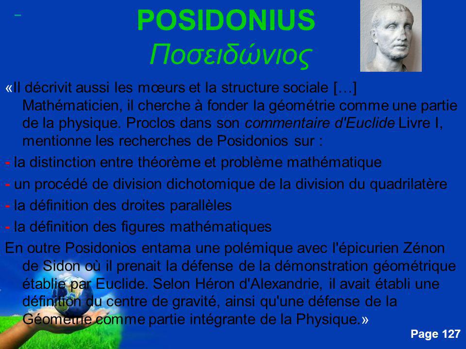 POSIDONIUS Ποσειδώνιος
