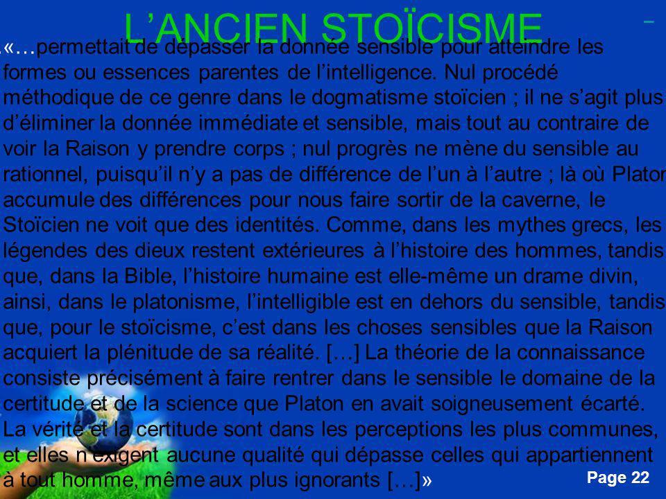 L'ANCIEN STOÏCISME _.