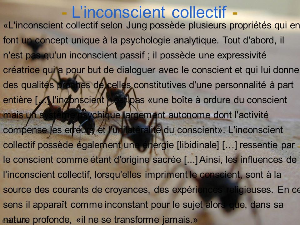 - L'inconscient collectif -