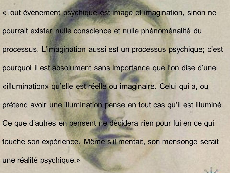 «Tout événement psychique est image et imagination, sinon ne pourrait exister nulle conscience et nulle phénoménalité du processus.