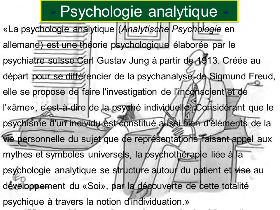 - Psychologie analytique -