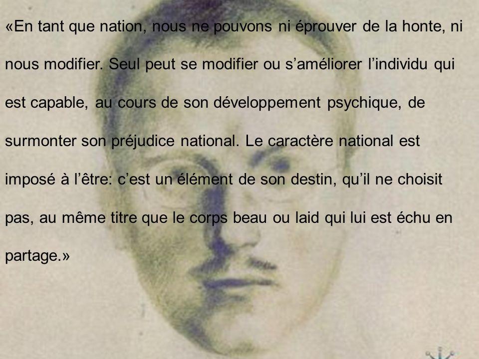 «En tant que nation, nous ne pouvons ni éprouver de la honte, ni nous modifier.