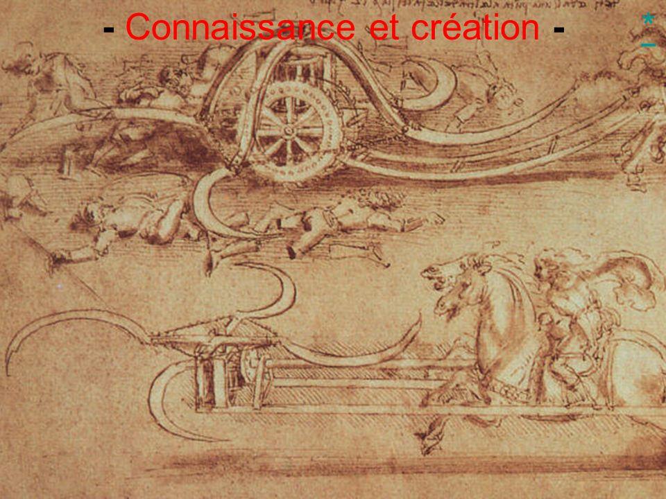 - Connaissance et création -