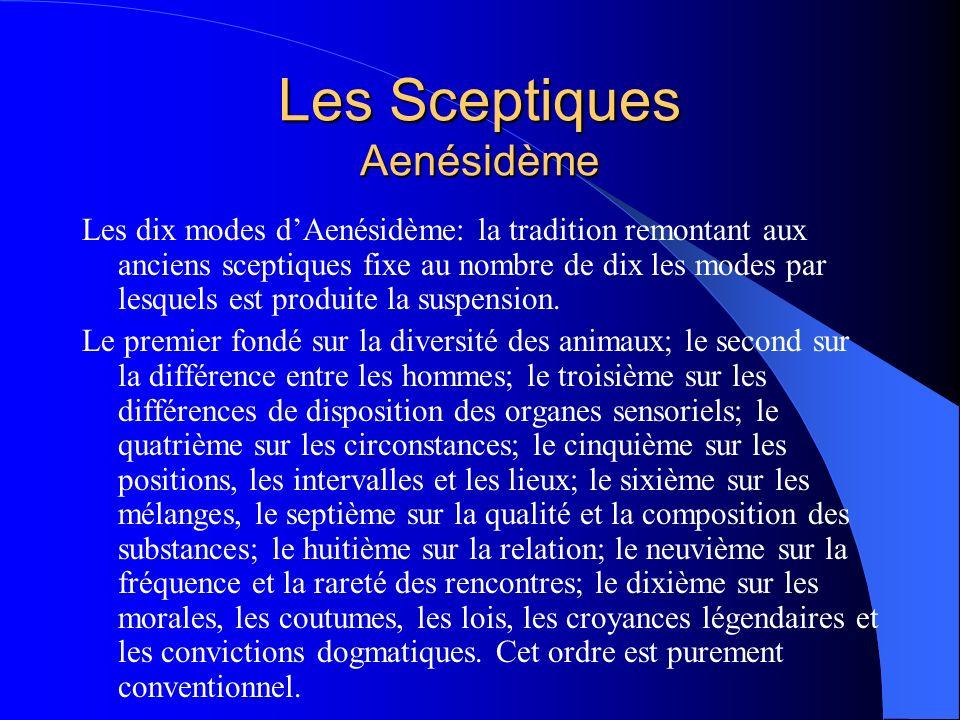 Les Sceptiques Aenésidème
