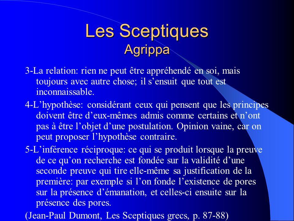 Les Sceptiques Agrippa