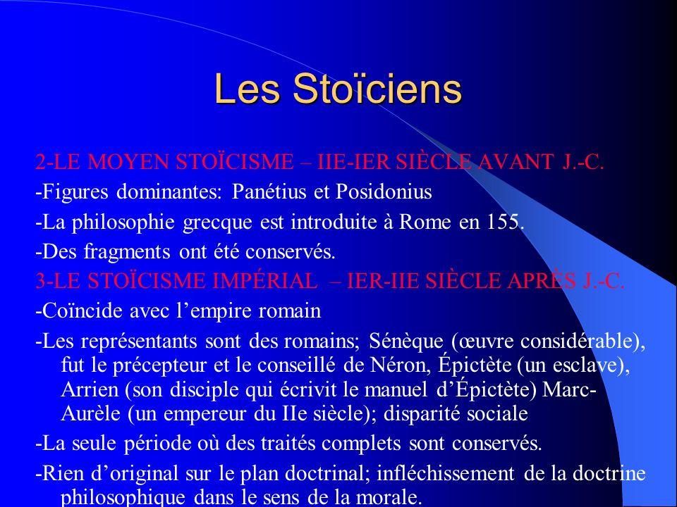 Les Stoïciens 2-LE MOYEN STOÏCISME – IIE-IER SIÈCLE AVANT J.-C.