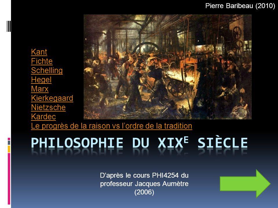 PHILOSOPHIE DU XIXE SIÈCLE