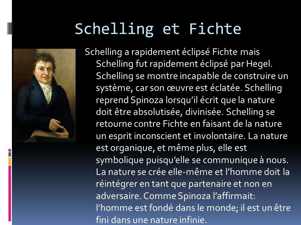 Schelling et Fichte