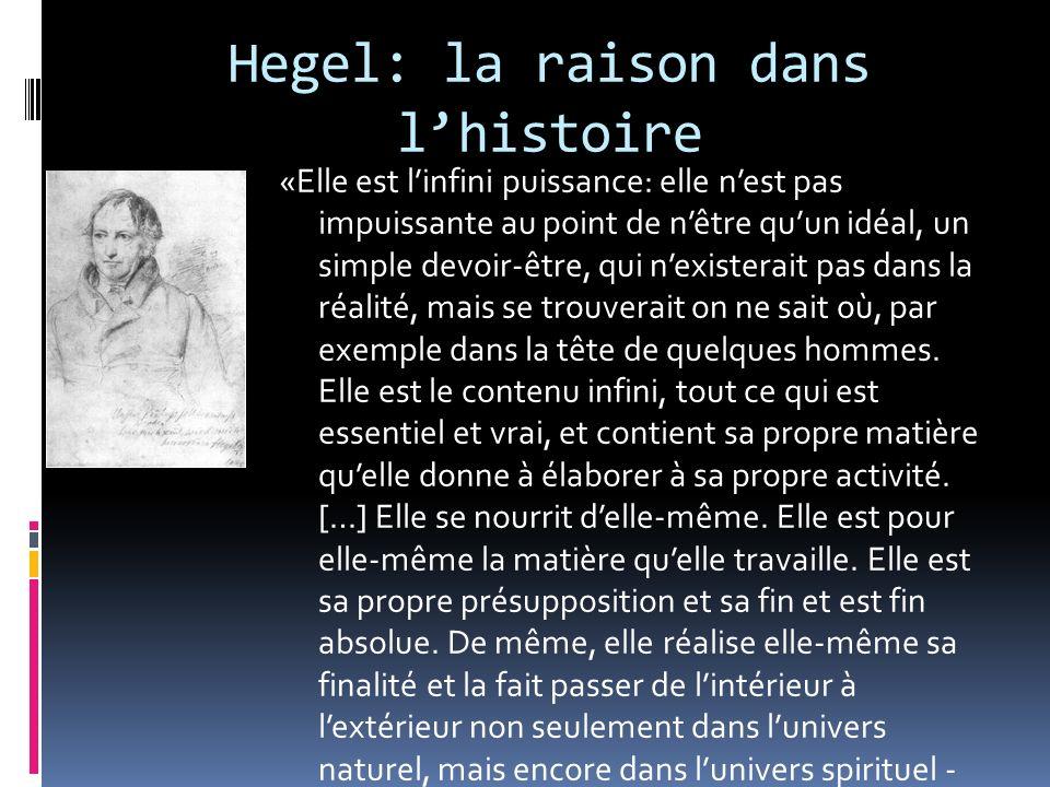 Hegel: la raison dans l'histoire