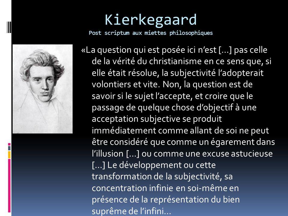 Kierkegaard Post scriptum aux miettes philosophiques