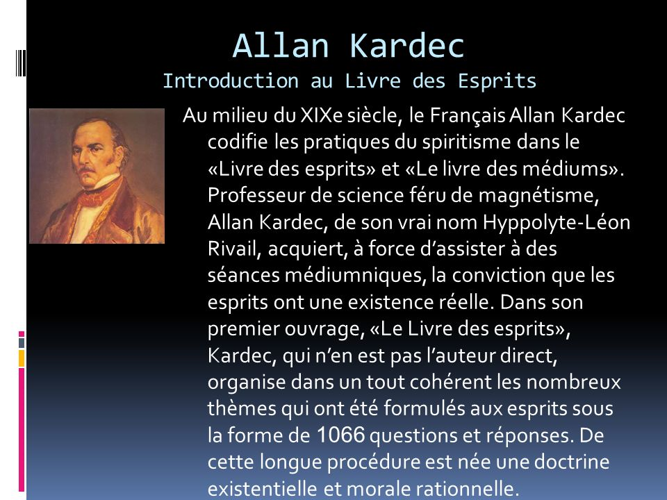 Allan Kardec Introduction au Livre des Esprits
