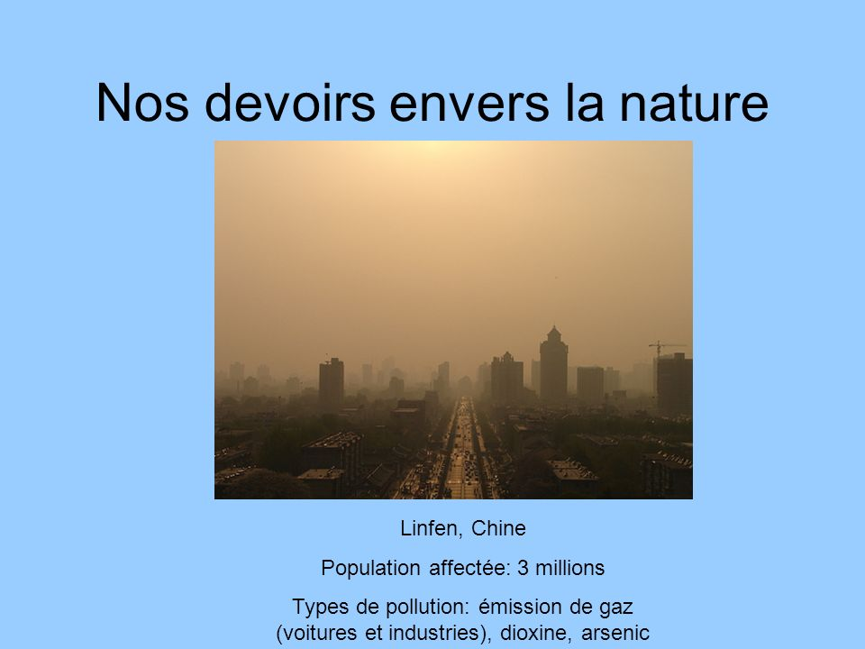 Nos devoirs envers la nature