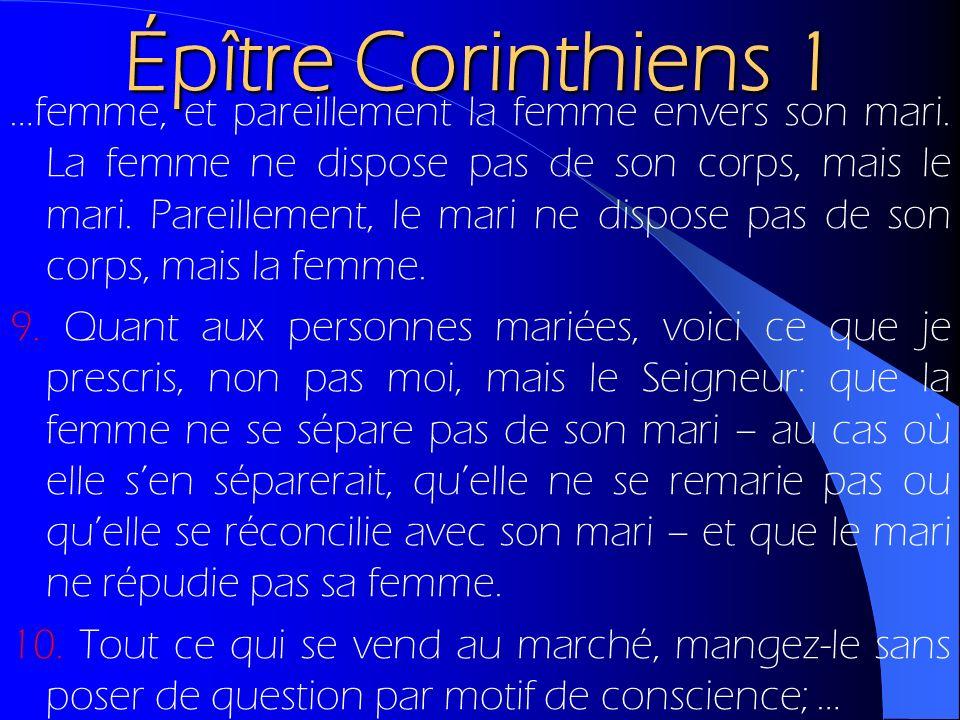 Épître Corinthiens 1