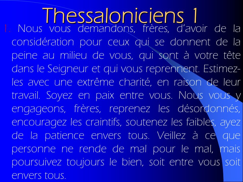 Thessaloniciens 1
