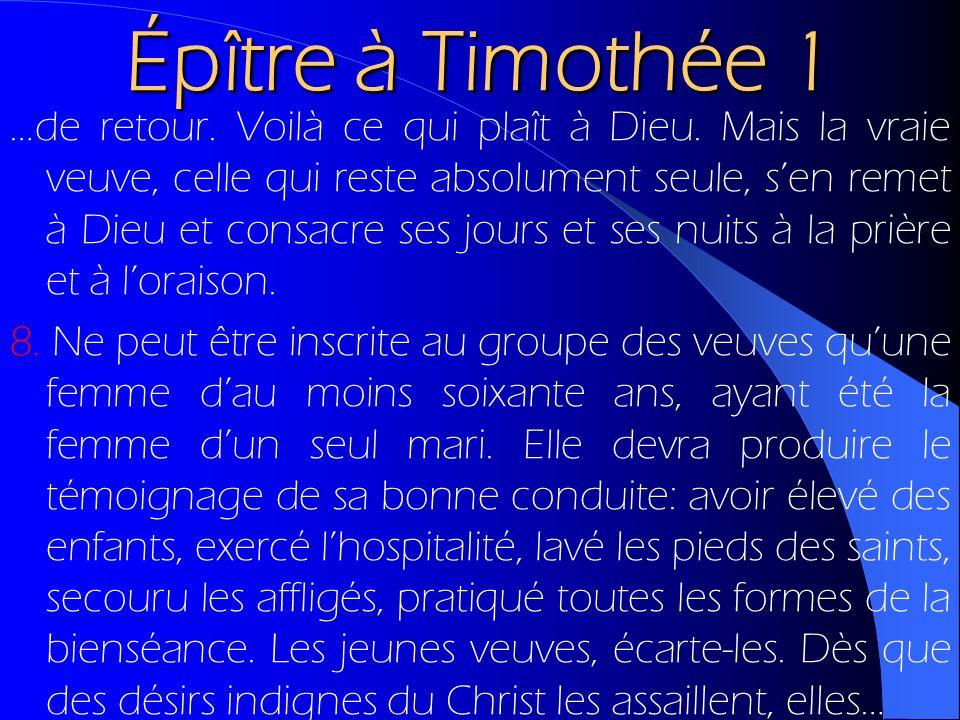 Épître à Timothée 1