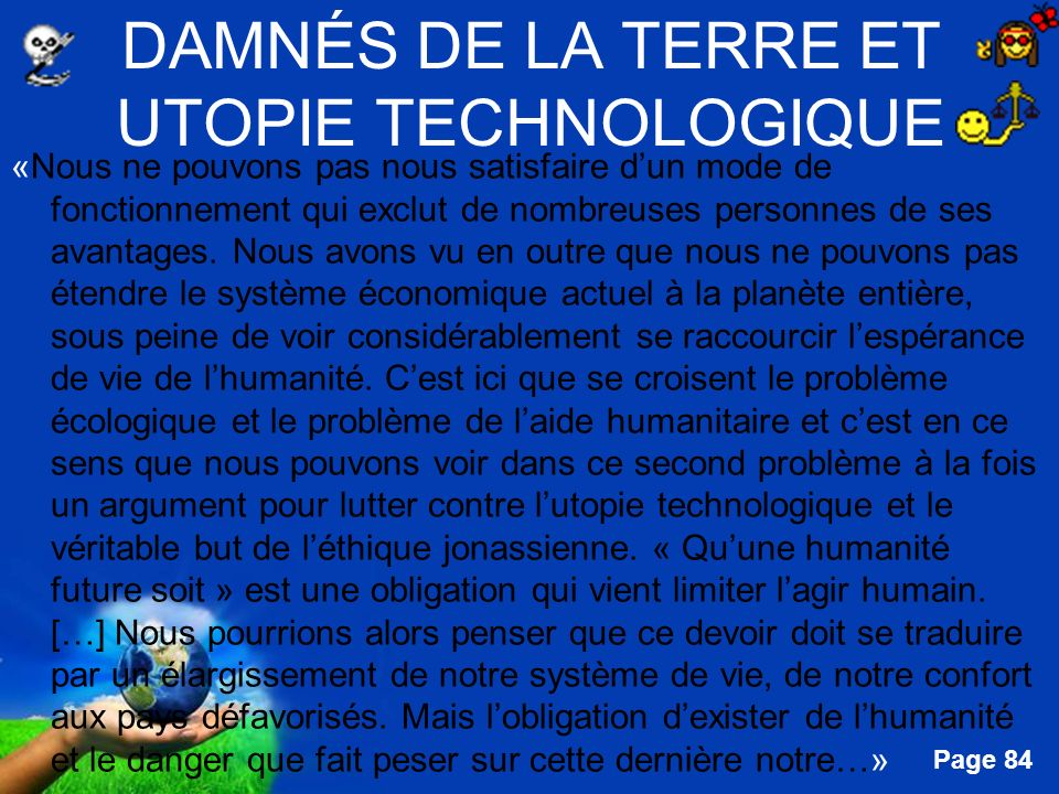 DAMNÉS DE LA TERRE ET UTOPIE TECHNOLOGIQUE