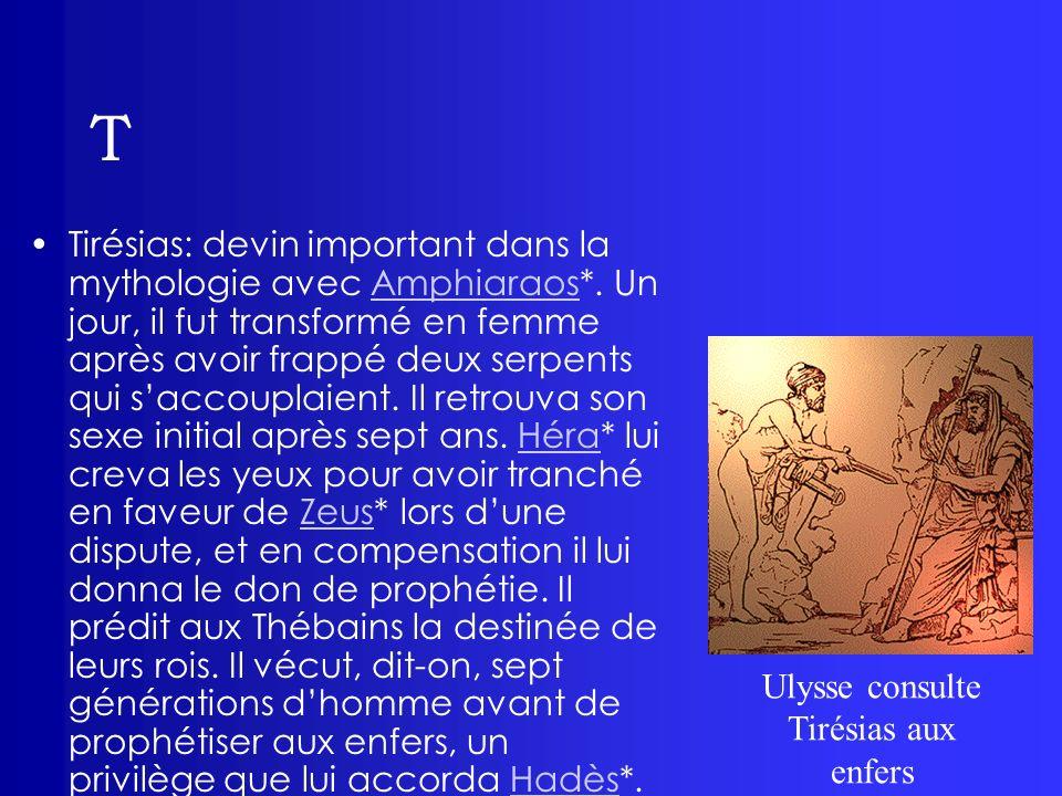Ulysse consulte Tirésias aux enfers
