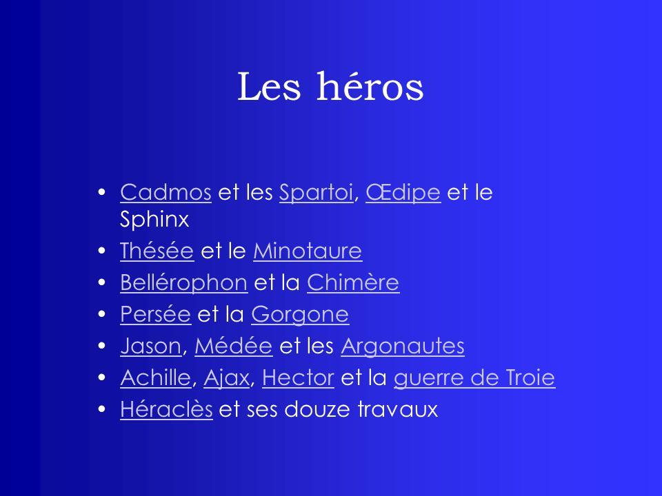 Les héros Cadmos et les Spartoi, Œdipe et le Sphinx
