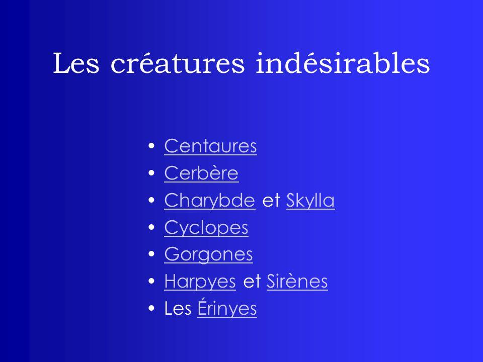 Les créatures indésirables