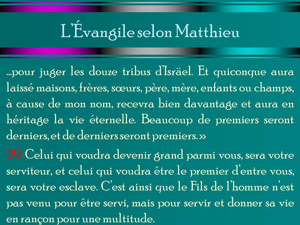 L'Évangile selon Matthieu