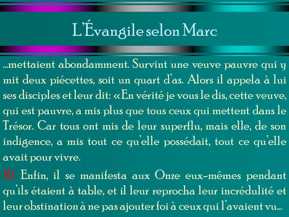L'Évangile selon Marc