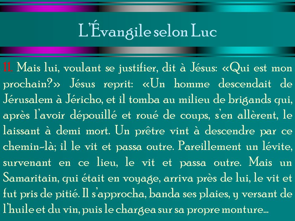 L'Évangile selon Luc