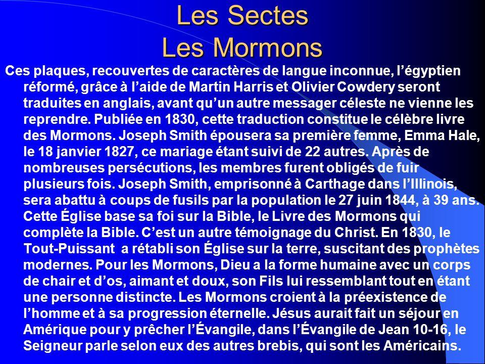 Les Sectes Les Mormons
