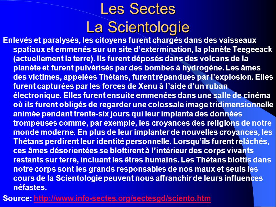 Les Sectes La Scientologie