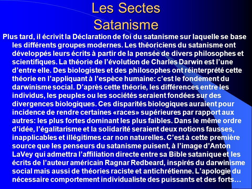 Les Sectes Satanisme