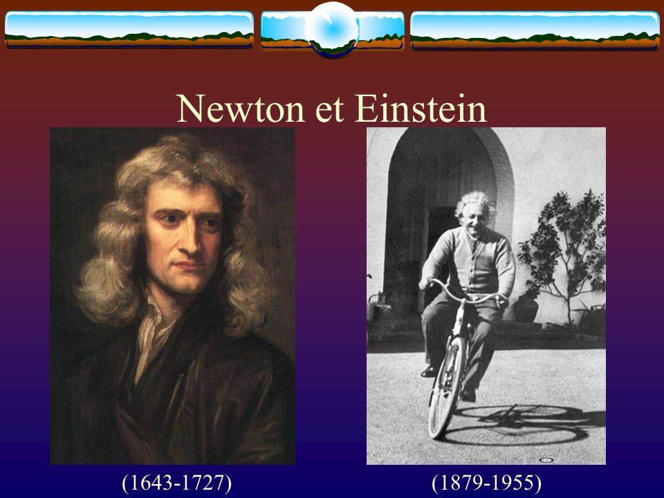 Newton et Einstein (1643-1727) (1879-1955)