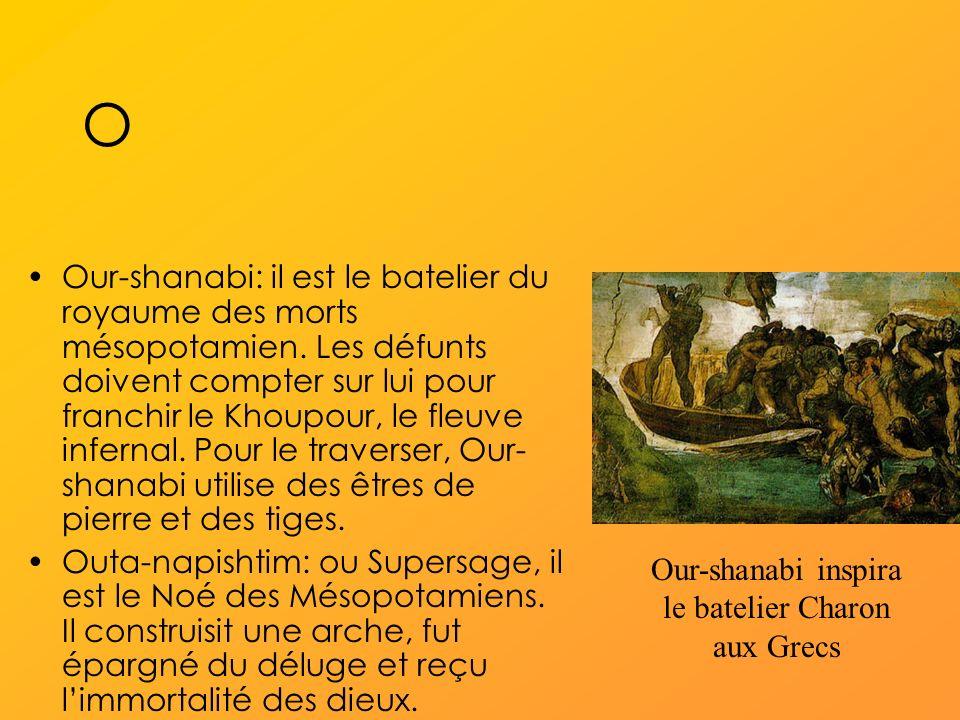 Our-shanabi inspira le batelier Charon aux Grecs