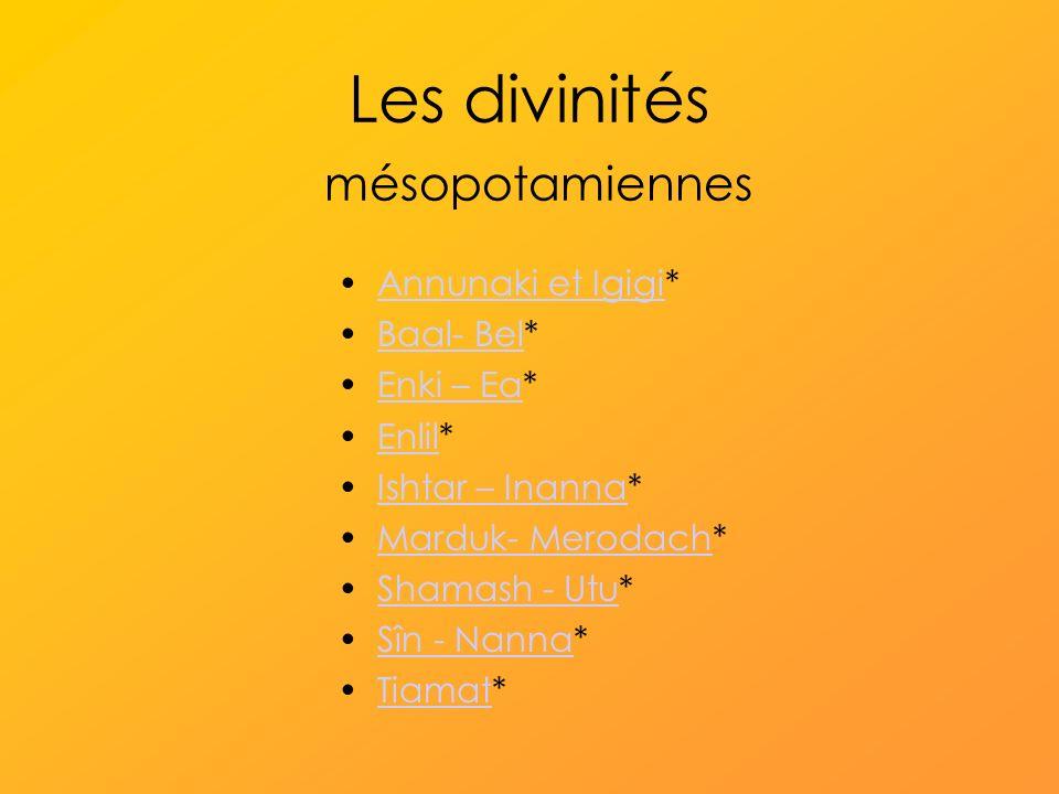 Les divinités mésopotamiennes