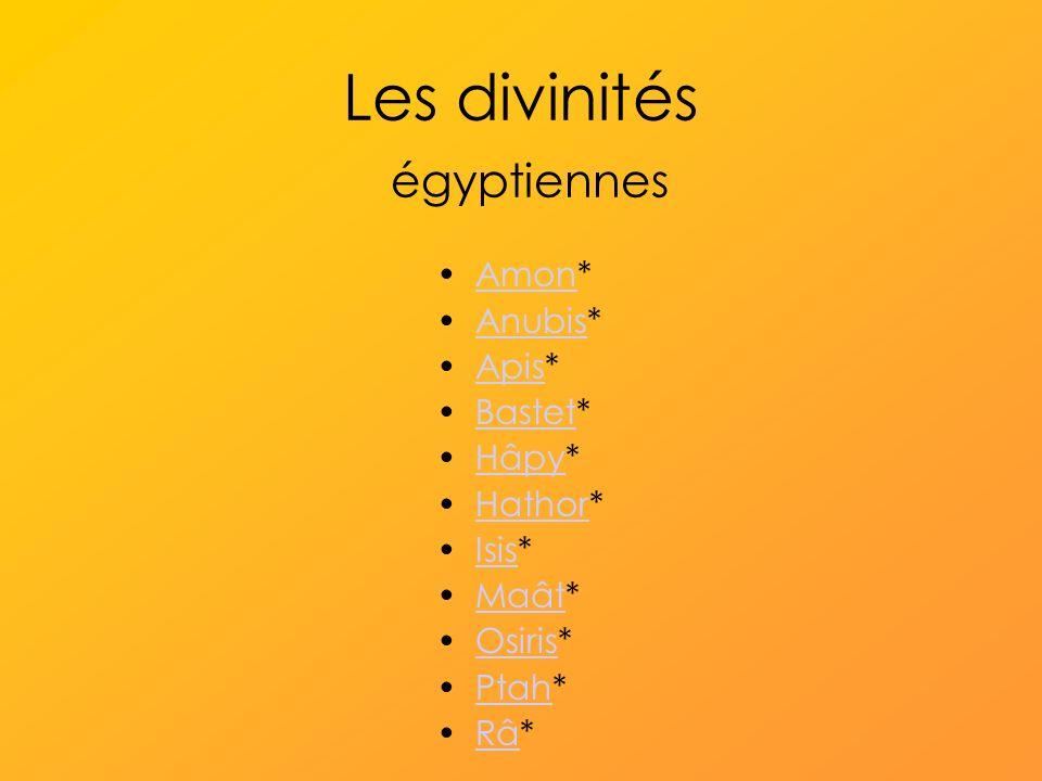 Les divinités égyptiennes