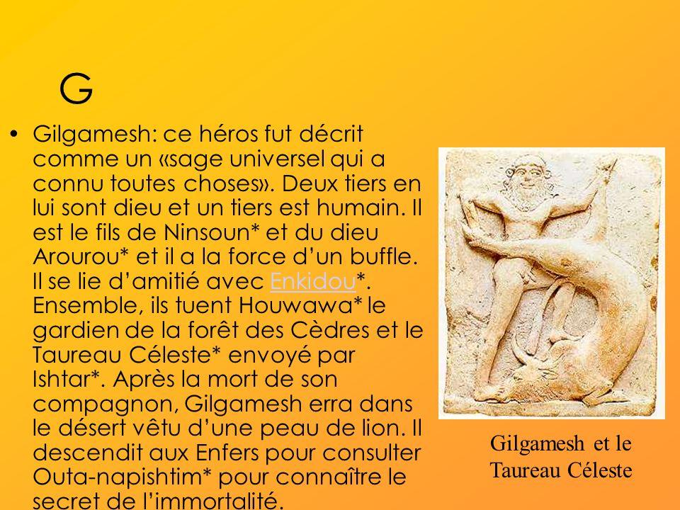 Gilgamesh et le Taureau Céleste