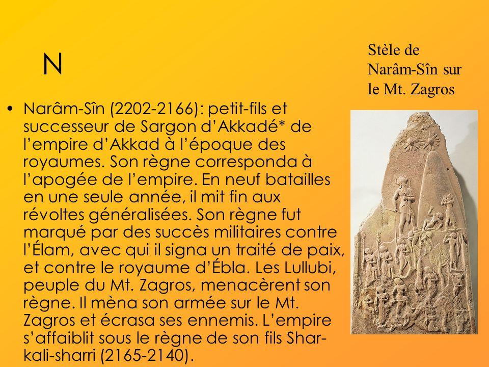 N Stèle de Narâm-Sîn sur le Mt. Zagros