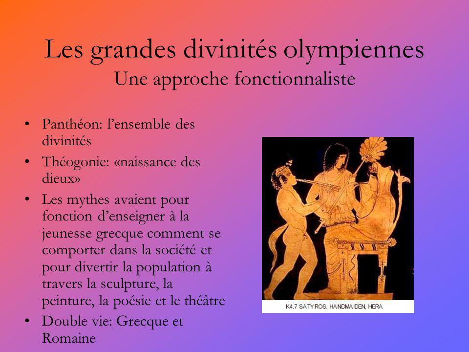 Les grandes divinités olympiennes Une approche fonctionnaliste