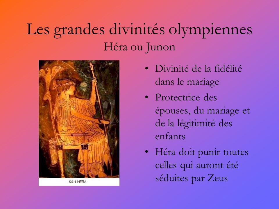 Les grandes divinités olympiennes Héra ou Junon
