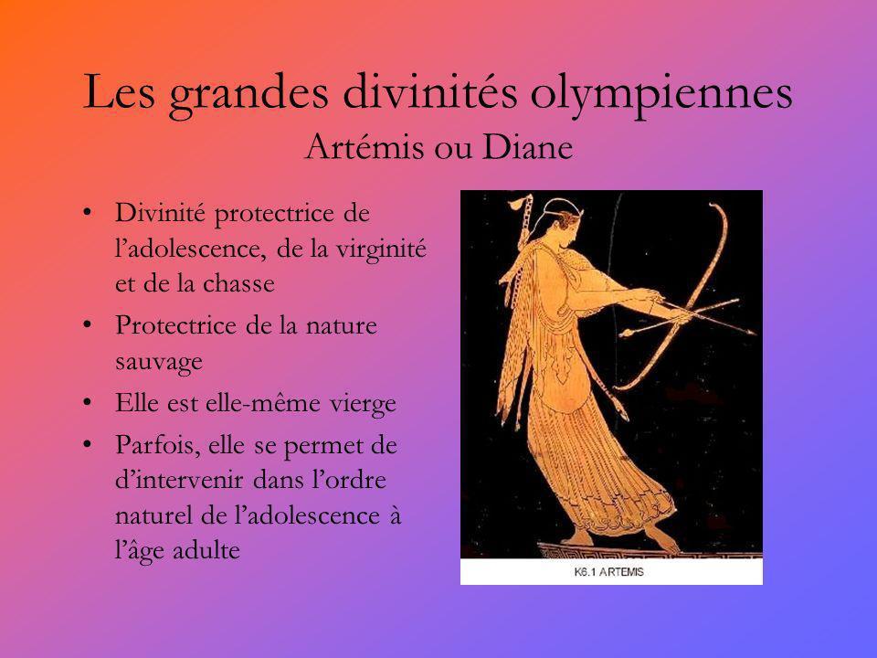 Les grandes divinités olympiennes Artémis ou Diane