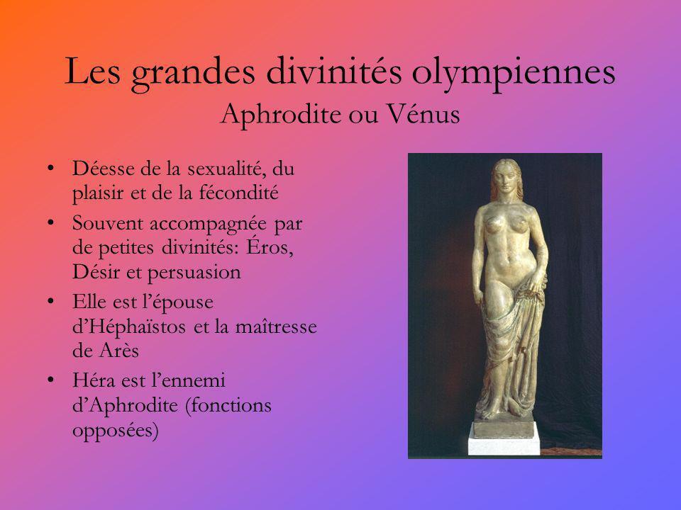 Les grandes divinités olympiennes Aphrodite ou Vénus