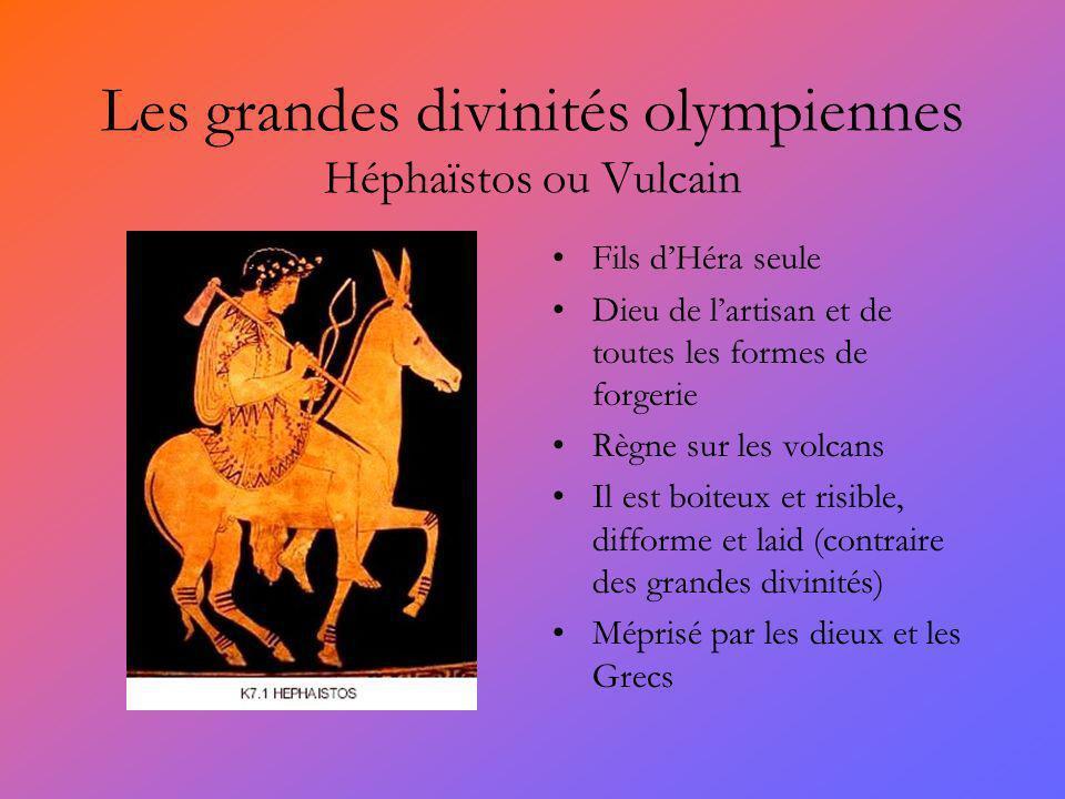 Les grandes divinités olympiennes Héphaïstos ou Vulcain