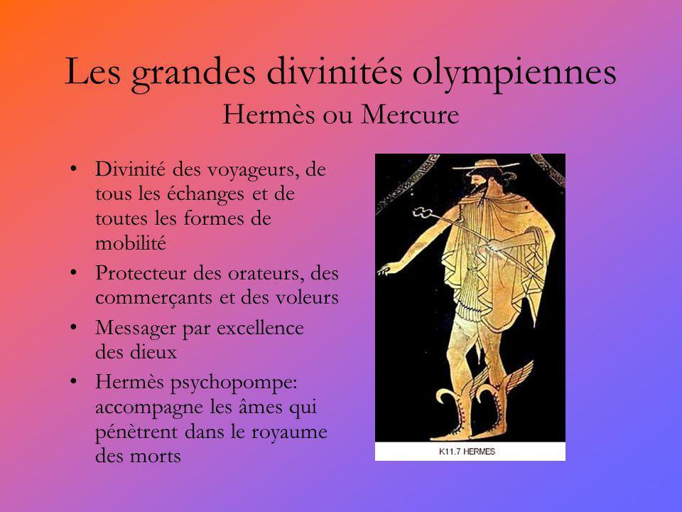 Les grandes divinités olympiennes Hermès ou Mercure