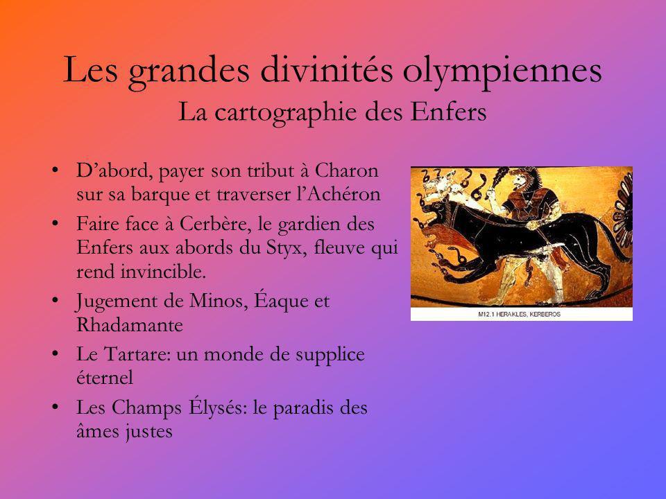 Les grandes divinités olympiennes La cartographie des Enfers