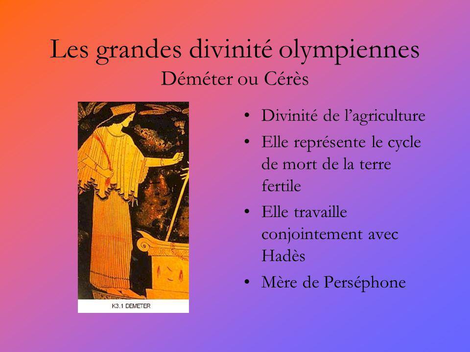 Les grandes divinité olympiennes Déméter ou Cérès